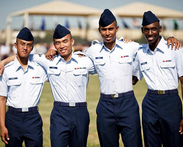 Airmen graduating Basic Training