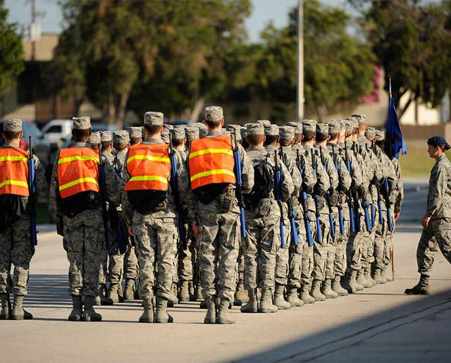 Airmen marching