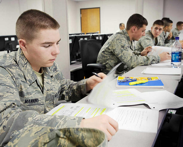 Airman student studying