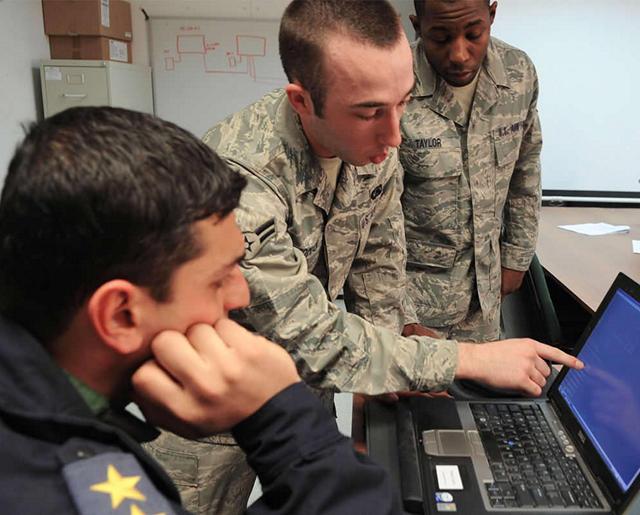 Airmen demonstrate communication techniques