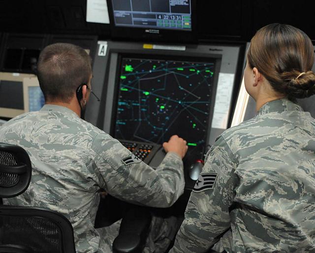 Airmen assisting civilian aircraft